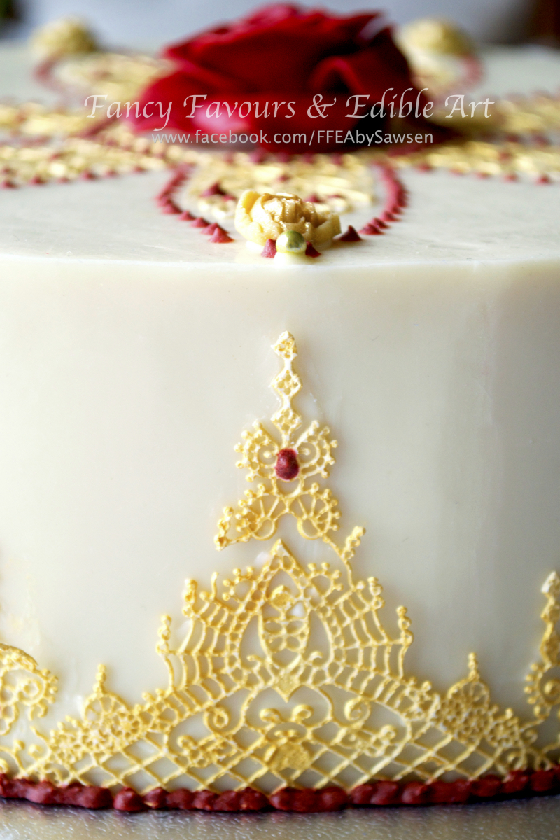 Asian-indian-red-gold-ivory-chocolate-wedding-cake-display-table-6 ...