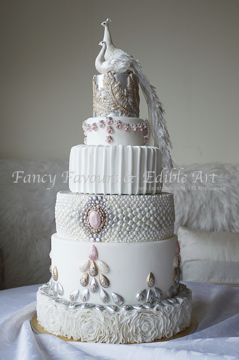 Wedding cakes 1 fancy favours edible art - Jewel cake decorations ...