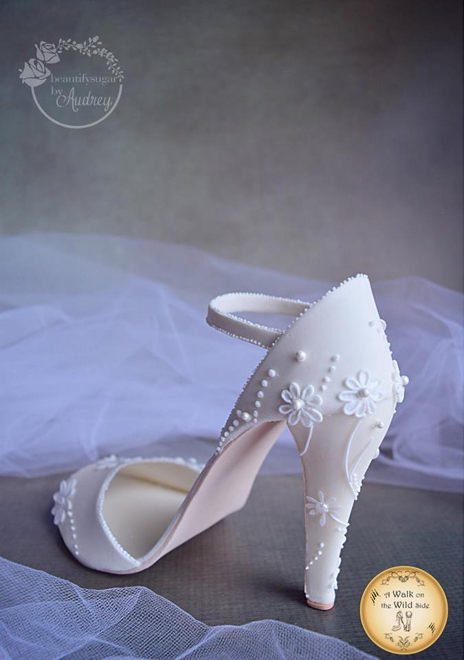 Audrey's piece inspired by Kate Middleton's wedding shoes