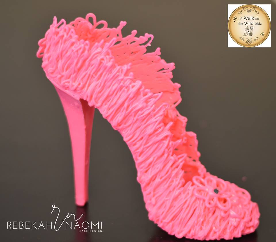 Rebekah's pink chocolate drizzle shoe