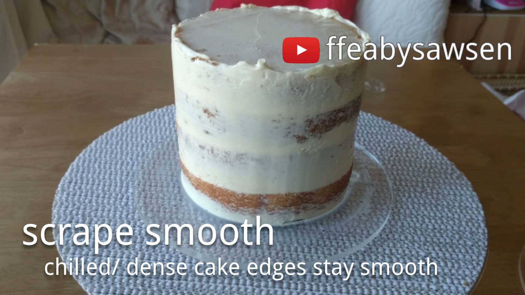 secrets of the perfect semi naked cake tutorial | ffeabysawsen