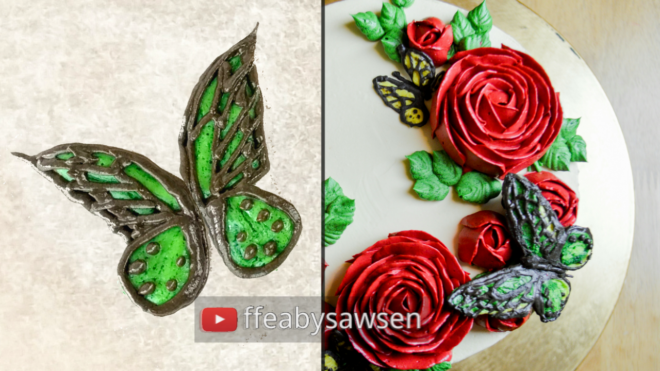 how to pipe beautiful buttercream butterflies - butterfly piping tutorial | Fancy Favours & Edible Art | ffeabysawsen.com