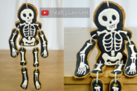 hanging dancing skeleton iced cookie tutorial - halloween - ffeabysawsen