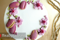 buttercream plum & plum blossom wreath cake video tutorial | ffeabysawsen