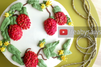 buttercream fruit & flower wreath cake tutorial - lychee & blossoms - ffeabysawsen.com