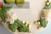 guava blossom buttercream flower wreath cake video tutorial - ffeabyswsen.com