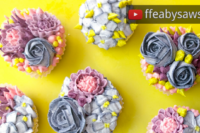 blueberry buttercream flower garden cupcake video tutorial - beautiful bouquets series - ffeabysawsen.com
