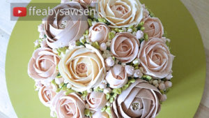 Beautiful Bouquets 4: Bridal Silk buttercream flower domed bouquet cake