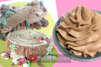 Sawsen's easy chocolate buttercream recipe - fluffy, silky, pipeable, tastes like chocolate mousse! | ffeabysawsen