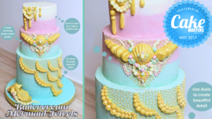 Buttercream Mermaid Jewel Cake – as featured in Cake Masters Magazine May 2017