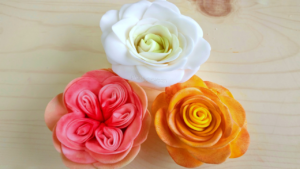 "3 Easy & Beautiful Sugar Roses with the ""Easiest Rose Cutter Ever"""