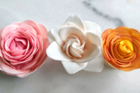 Easy sugar gardenia, camellia, miniature rose with the smaller easiest rose cutter ever - beginner sugar flowers