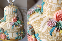 Vintage Birdcage cake with Buttercream Terrarium - Buttercream Succulent piping tutorial - Cake Tutorial - ffeabysawsen.com