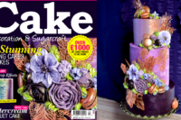 Purple buttercream bouquet cake tutorial preview - Cake Decoration & Sugarcraft Magazine April 2017 - ffeabysawsen.com